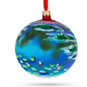 "1907 ""Water Lilies"" (Nympheas) Painting by Claude Monet Glass Ball Christmas Ornament  4 Inches by BestPysanky"