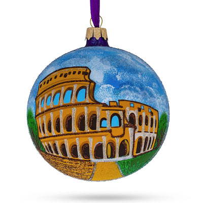 Colosseum, Rome, Italy Glass Ball Christmas Ornament 4 Inches by BestPysanky