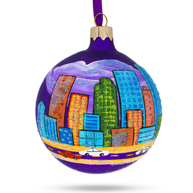 Denver, Colorado Glass Christmas Ornament by BestPysanky