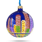 Boston, Massachusetts Glass Ball Christmas Ornament by BestPysanky
