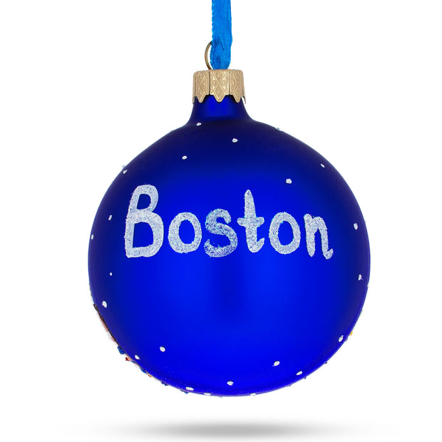 Buy Online Gift Shop Boston, Massachusetts Glass Ball Christmas Ornament