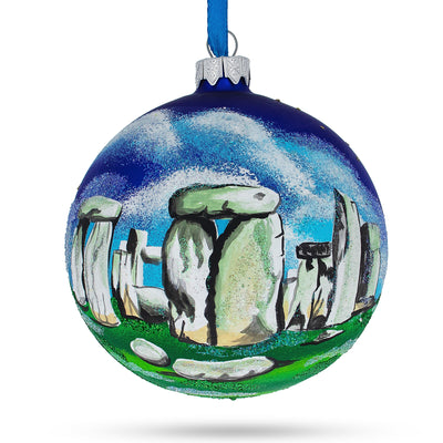 Stonehenge, England, Great Britain Glass Ball Christmas Ornament 4 Inches by BestPysanky