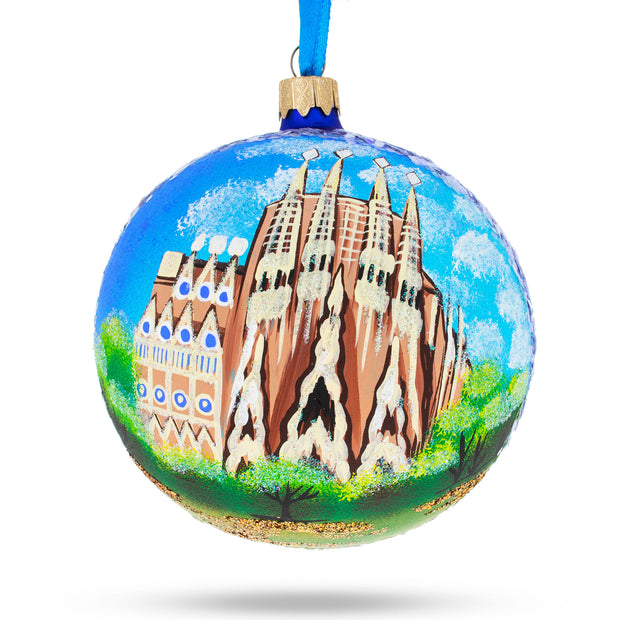 La Sagrada Familia, Barcelona, Spain Glass Christmas Ornament 4 Inches by BestPysanky