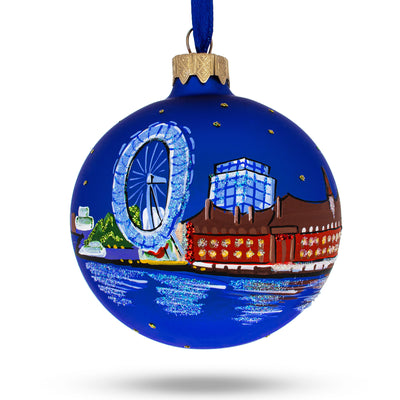 London, United Kingdom Glass Christmas Ornament by BestPysanky