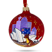 Sydney Opera House, Australia Glass Christmas Ornament by BestPysanky
