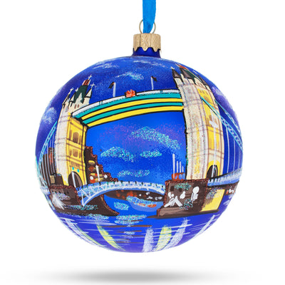 London Bridge, England, United Kingdom Glass Ornament 4 Inches by BestPysanky