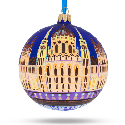Budapest Parliament, Hungary Glass Ball Christmas Ornament 4 Inches by BestPysanky