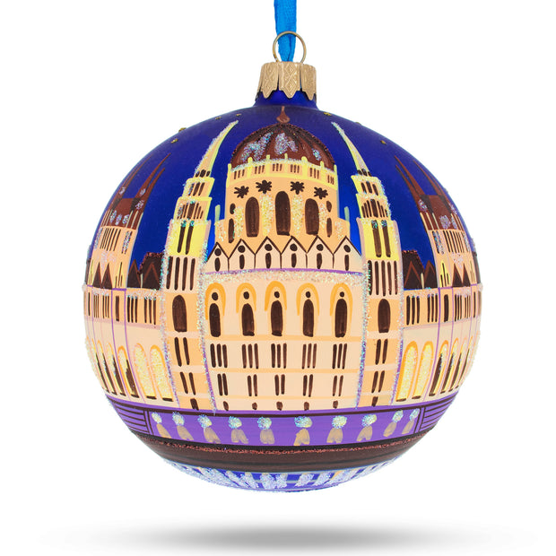 Budapest, Hungary Glass Christmas Ornament 4 Inches by BestPysanky