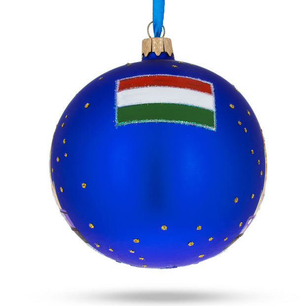 Budapest, Hungary Glass Christmas Ornament 4 Inches