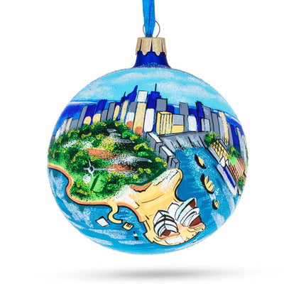 Sydney, Australia Glass Ball Christmas Ornament 4 Inches by BestPysanky