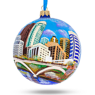 Columbus, Ohio Glass Ball Christmas Ornament 4 Inches by BestPysanky