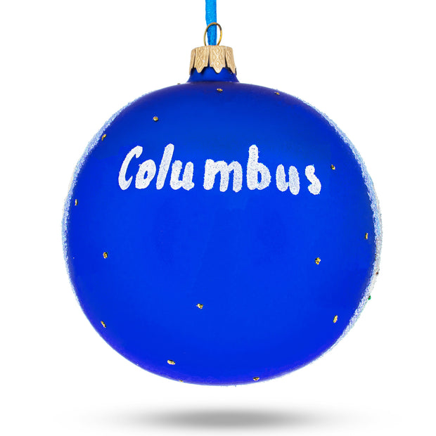 Buy Online Gift Shop Columbus, Ohio Glass Ball Christmas Ornament 4 Inches