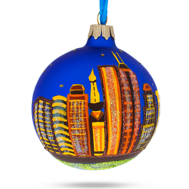 Indianapolis, Indiana Glass Christmas Ornament by BestPysanky