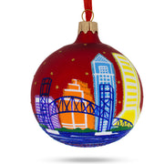 Jacksonville, Florida Glass Christmas Ornament by BestPysanky