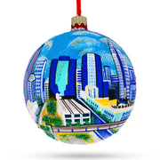 Charlotte, North Carolina Glass Ball Christmas Ornament 4 Inches by BestPysanky