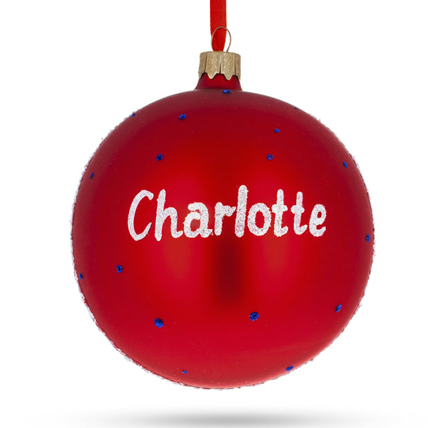 Buy Online Gift Shop Charlotte, North Carolina Glass Ball Christmas Ornament 4 Inches