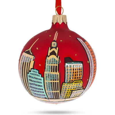 Columbus, Ohio Glass Christmas Ornament by BestPysanky