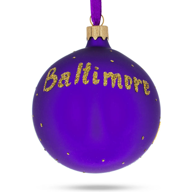 Buy Online Gift Shop Baltimore, Maryland Glass Christmas Ornament