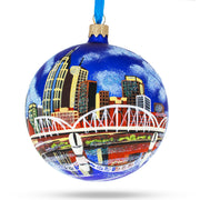 Nashville, Tennessee Glass Ball Christmas Ornament 4 Inches by BestPysanky