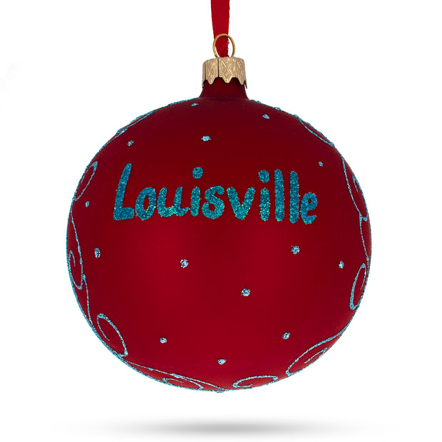 Buy Online Gift Shop Louisville, Kentucky Glass Ball Christmas Ornament 4 Inches