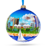 Long Beach, California Glass Ball Christmas Ornament 4 Inches by BestPysanky