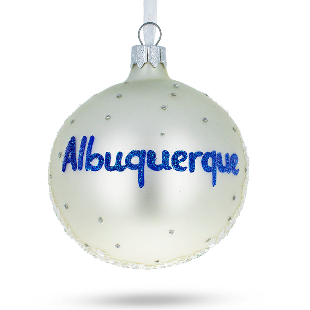 Buy Online Gift Shop Albuquerque, New Mexico Glass Christmas Ornament