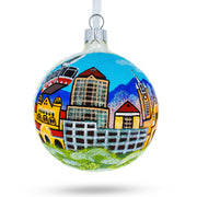 Albuquerque, New Mexico Glass Christmas Ornament by BestPysanky