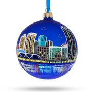Virginia Beach, Virginia Glass Ball Christmas Ornament 4 Inches by BestPysanky