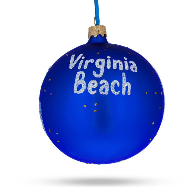 Buy Online Gift Shop Virginia Beach, Virginia Glass Christmas Ornament 4 Inches