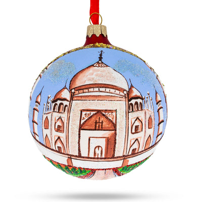 Taj Mahal, India Glass Ball Christmas Ornament 4 Inches by BestPysanky