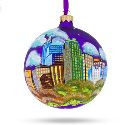 Raleigh, North Carolina Glass Ball Christmas Ornament 4 Inches by BestPysanky