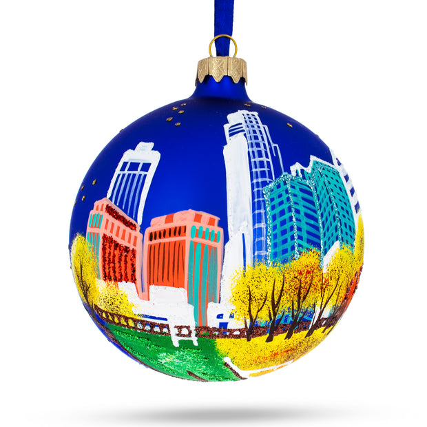 Omaha, Nebraska Glass Ball Christmas Ornament 4 Inches by BestPysanky