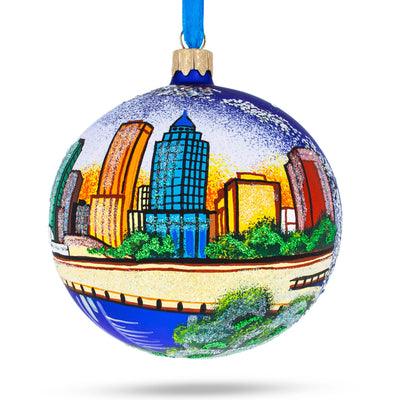 Tampa, Florida Glass Ball Christmas Ornament 4 Inches by BestPysanky
