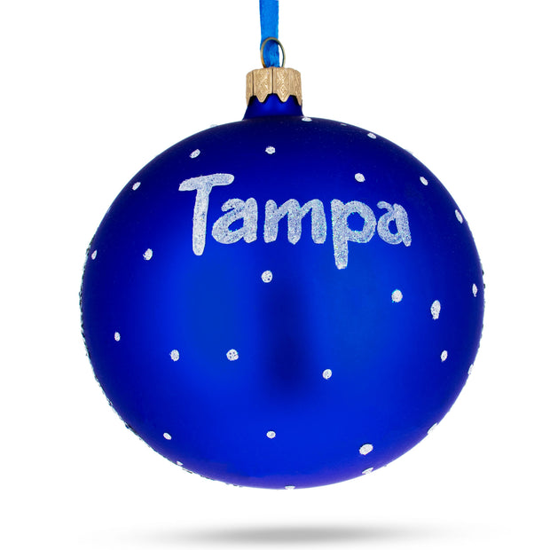 Buy Online Gift Shop Tampa, Florida Glass Christmas Ornament 4 Inches