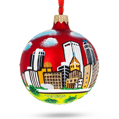 Tulsa, Oklahoma Glass Christmas Ornament by BestPysanky