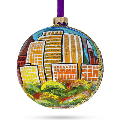 Colorado Springs, Colorado Glass Ball Christmas Ornament 4 Inches by BestPysanky