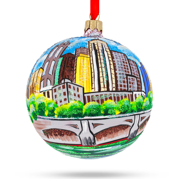 Melbourne, Australia Glass Ball Christmas Ornament 4 Inches by BestPysanky