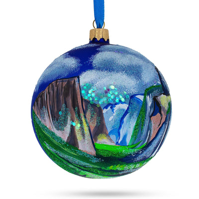 Yosemite National Park, Sierra Nevada California Glass Ball Christmas Ornament by BestPysanky