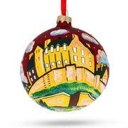 Edinburgh Castle, Scotland Glass Ball Christmas Ornament 4 Inches by BestPysanky