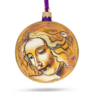 "Leonardo Da Vinci ""Head of A Woman"" Glass Ball Christmas Ornament 4 Inches by BestPysanky"