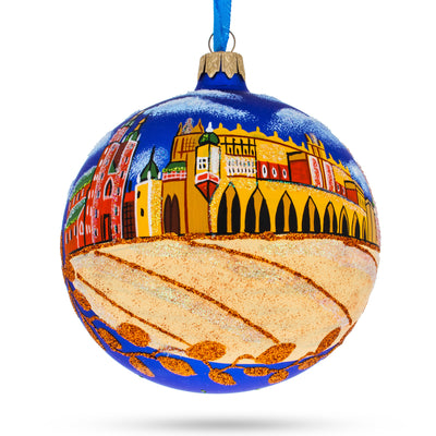Krakow, Poland (Market Square) Glass Ball Christmas Ornament 4 Inches by BestPysanky