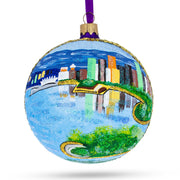 Vancouver, Canada (Stanley Park) Glass Ball Christmas Ornament 4 Inches by BestPysanky