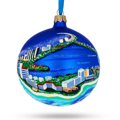 Cancun, Mexico Glass Ball Christmas Ornament 4 Inches by BestPysanky