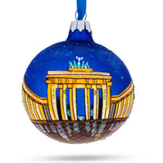 Berlin, Germany (Brandenburg Gate) Glass Ball Christmas Ornament by BestPysanky