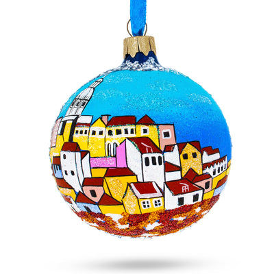 Alfama, Lisbon, Portugal Glass Ball Christmas Ornament by BestPysanky