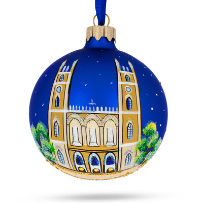 Notre-Dame Basilica, Montreal, Canada Glass Ball Christmas Ornament by BestPysanky