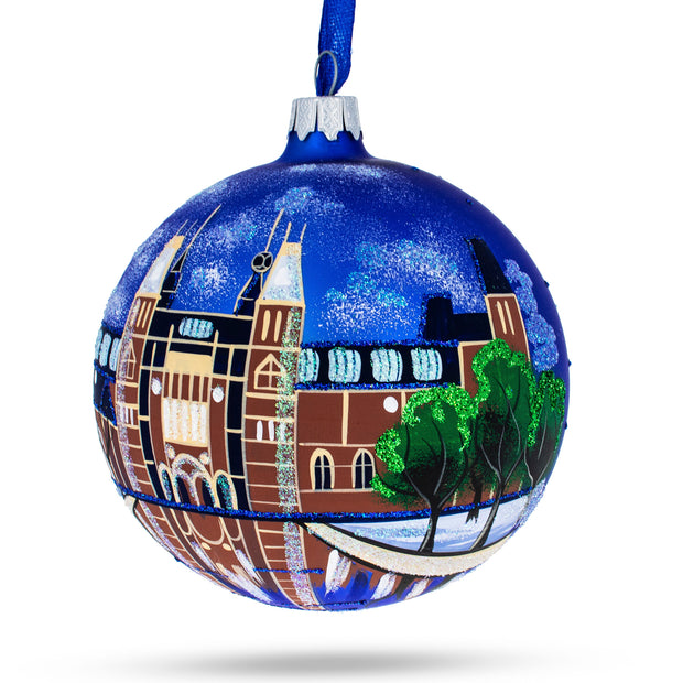 Amsterdam, Netherlands (Rijksmuseum) Glass Ball Christmas Ornament 4 Inches by BestPysanky