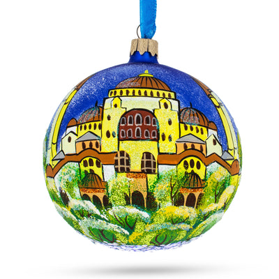Aya Sofya, Istanbul, Turkey Glass Ball Christmas Ornament 4 Inches by BestPysanky