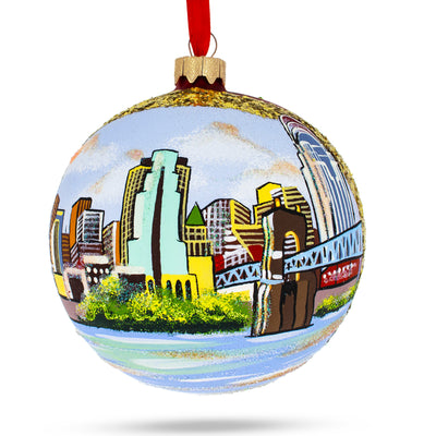 Cincinnati, Ohio Glass Ball Christmas Ornament 4 Inches by BestPysanky