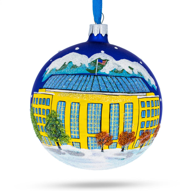 Aurora, Colorado Glass Ball Christmas Ornament 4 Inches by BestPysanky